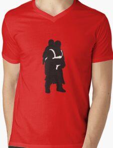 Hodor and Brann - Game of Thrones Silhouette Mens V-Neck T-Shirt