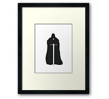Eddard Stark - Game of Thrones silhouette Framed Print