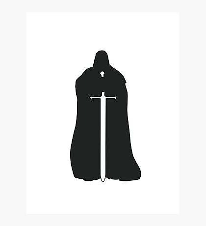 Eddard Stark - Game of Thrones silhouette Photographic Print