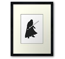 Jon Snow - Game of Thrones Silhouette Framed Print