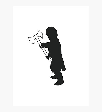Tyrion Lannister Imp - Game of Thrones Silhouette Photographic Print