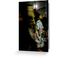 JAPANESE GIRL IN KIMONO Greeting Card