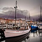 Constitution Dock, Hobart Wharf, Tasmania by James Nielsen