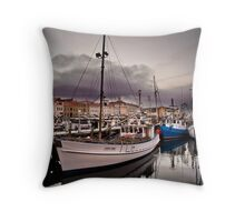 Constitution Dock, Hobart Wharf, Tasmania Throw Pillow