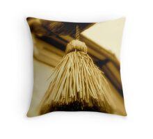JAPAN BUDDHIST TEMPLE DETAIL Throw Pillow