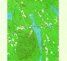 Maine USGS Historical Map Pleasant Mtn 807038 1963 24000 by wetdryvac