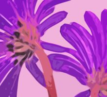 Wild Flowers in Abstract Colors Pink and Purple From Behind Sticker