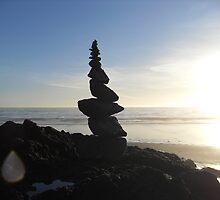 stacked rocks by coastie