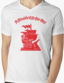 Pirate Ship - A Pirate's Life For Me Mens V-Neck T-Shirt