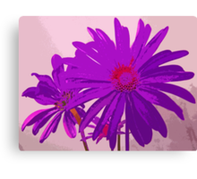Violet Purple and Pink Floral Abstract Design Canvas Print