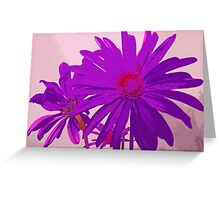Violet Purple and Pink Floral Abstract Design Greeting Card