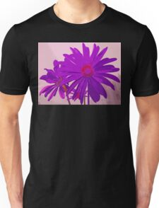 Violet Purple and Pink Floral Abstract Design Unisex T-Shirt