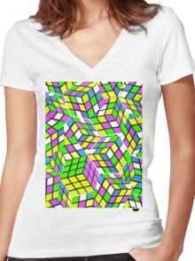 Rubix Women's Fitted V-Neck T-Shirt