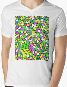Rubix Mens V-Neck T-Shirt