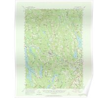 Maine USGS Historical Map Poland 306722 1956 62500 Poster