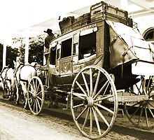 Wells Fargo Stage Coach by Polly Peacock