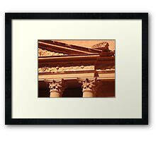 Detail of the Treasury at Petra Framed Print