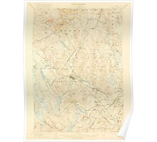 Maine USGS Historical Map Poland 306724 1908 62500 Poster