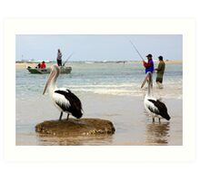 Fishing for complements Art Print
