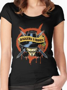 DAGGERS N´ ROSES Women's Fitted Scoop T-Shirt