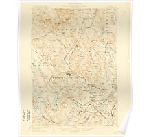 Maine USGS Historical Map Poland 460755 1908 62500 Poster