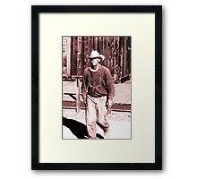 A True Cowboy Framed Print