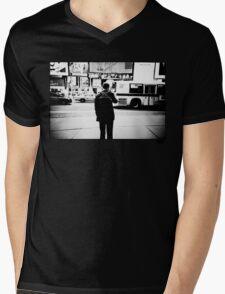 Road Cross Mens V-Neck T-Shirt