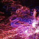 Light painting with fireworks by AndrewWakelin