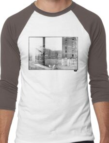 photo fade building Men's Baseball ¾ T-Shirt