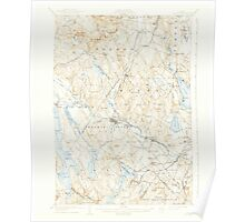 Maine USGS Historical Map Poland 460756 1908 62500 Poster