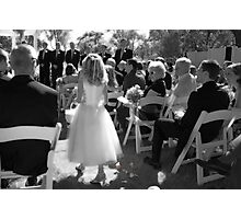 Wedding Pedals Photographic Print