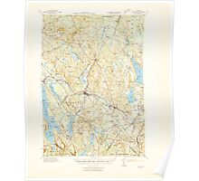 Maine USGS Historical Map Poland 460757 1942 62500 Poster