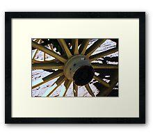 Wooden Wheel Framed Print
