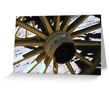 Wooden Wheel Greeting Card