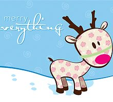 sweet little reindeer by Kat Massard