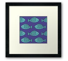 Retro Fish Framed Print