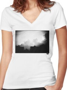 sky Women's Fitted V-Neck T-Shirt