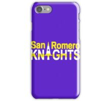 San Romero Knights iPhone Case/Skin