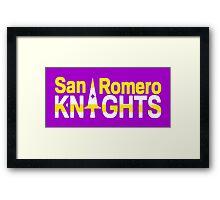 San Romero Knights Framed Print