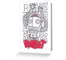 R is for Robot Greeting Card