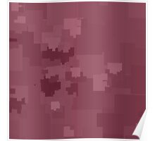 Crushed Berry Square Pixel Color Accent Poster