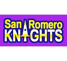 San Romero Knights With Purple Outline Photographic Print