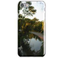 river with sunset - rio con puesta del sol iPhone Case/Skin