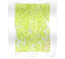 Maine USGS Historical Map Poland 460760 1956 62500 Poster