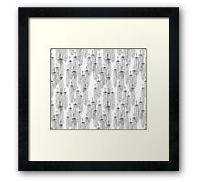 Feather Pencil Line Pattern Framed Print
