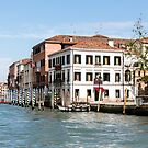 Gondola Poles in Venice Canal by dbvirago
