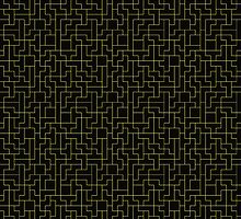 Yellow Tetris Patterns by c0y0te7