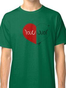 WAR / LOVE ambigram Classic T-Shirt