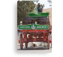 Unicorn Brewery Cart Canvas Print