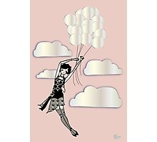 Floating Flapper Gatsby Girl in pink and pearl Photographic Print